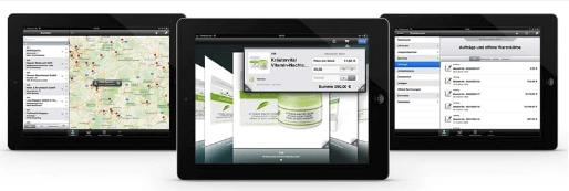 F&P ist exklusiver Prozessberater - Fotos mit verschiedenen Tablets