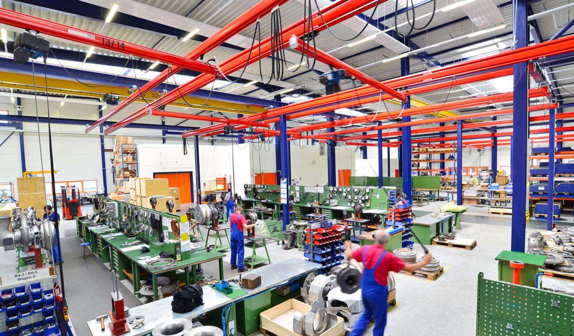 Turnaround in Produktionswerk