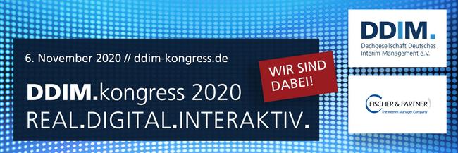 F&P als Hauptsponsor des DDIM Kongress 2020
