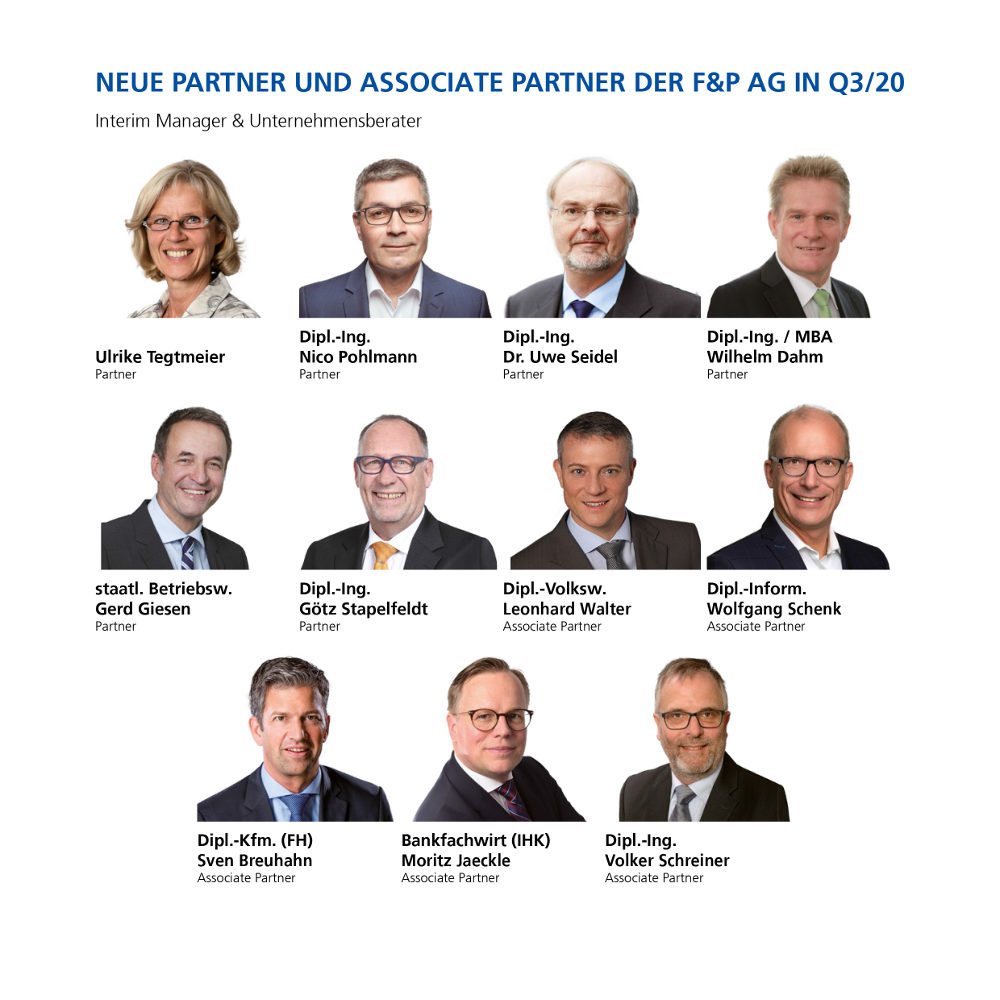 F&P verzeichnet starkes Partnerwachstum in Q3 2020